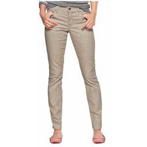 GAP Always Skinny Tan Beige Leopard Print Jeans